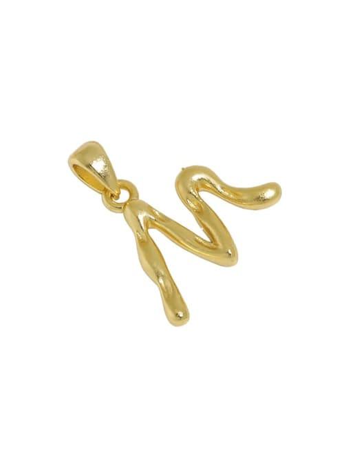 M [18K Gold] 925 Sterling Silver Minimalist Letter  Pendant